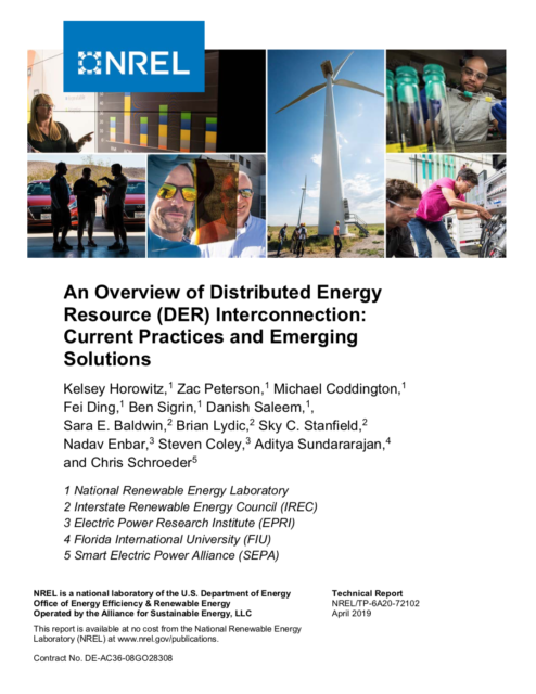 An Overview of Distributed Energy Resource (DER) Interconnection: Current Practices and Emerging Solutions