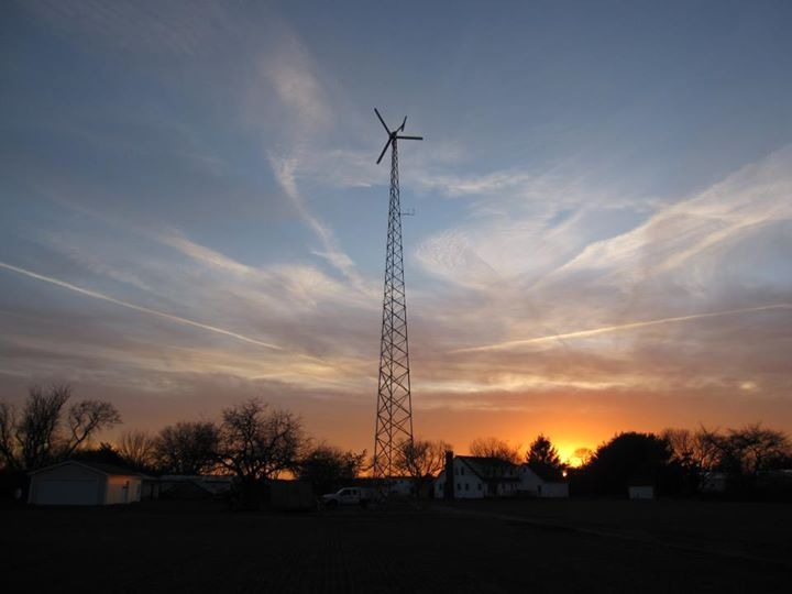 10 kW Bergey wind turbine on 120 tower