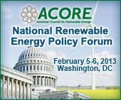 ACORE Policy Forum banner 2013