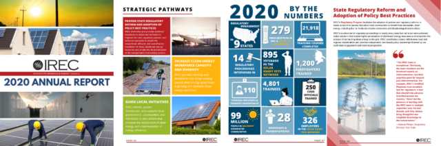 IREC's Annual Report Released, Covering 2020's Biggest Highlights