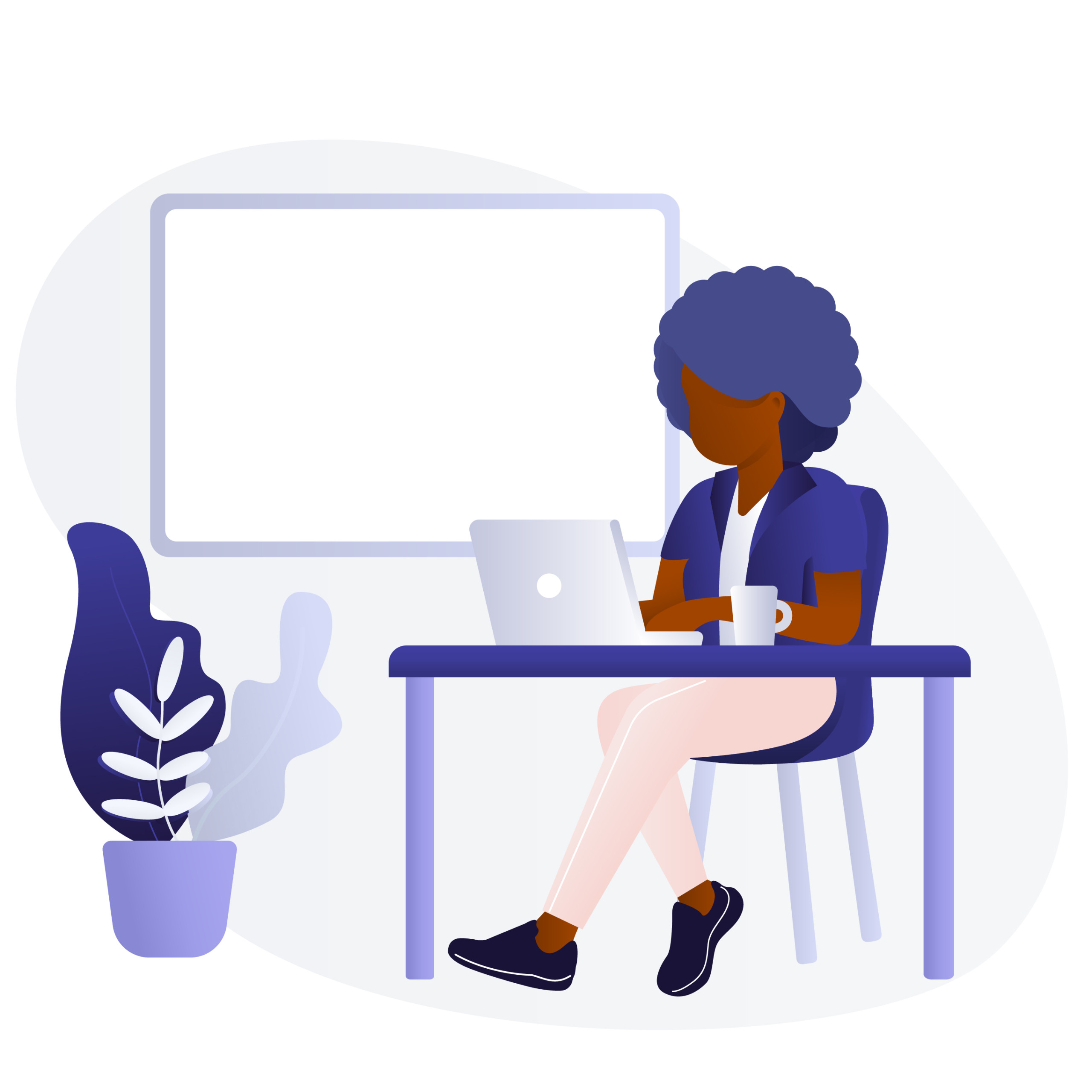 woman using laptop for online course
