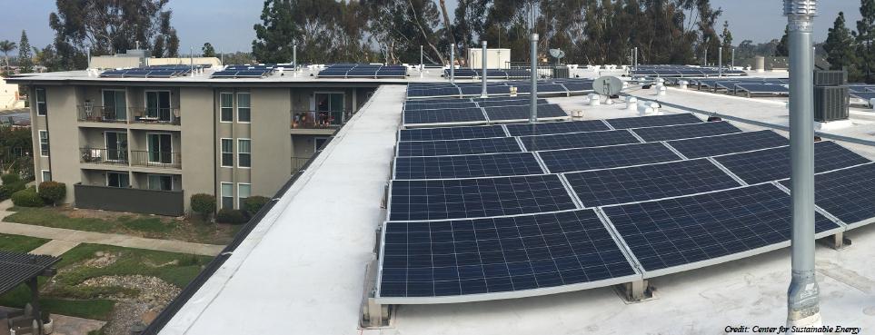 Solar Panels on Apartment Building
