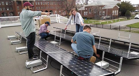 Delaware Tech Students Get Hands-On With Solar at Philly Naval Yard