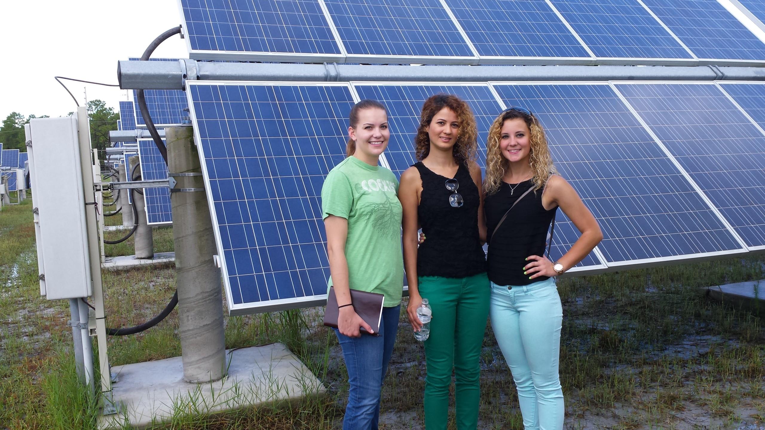 FEEDER summer institute students l to r: Katheryn McCabe, Sanaz Paran, Brittany Richard