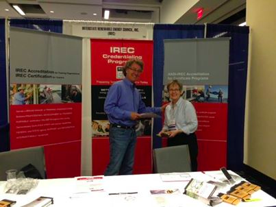 George Burmeister and Pat Fox at IREC booth at NAWB 2014 conference