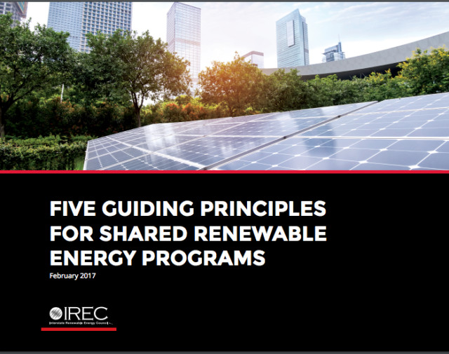 New Guiding Principles for Shared Renewable Energy Programs Released by IREC