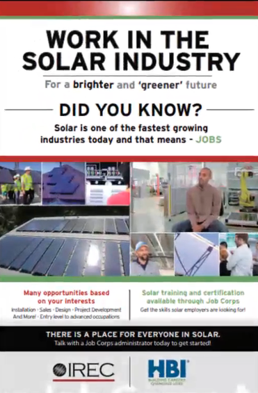Work in the Solar Industry poster