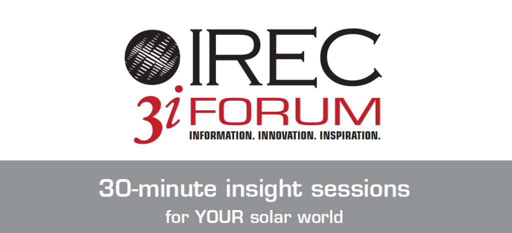 IREC 3iForum logo w 30 min sessions