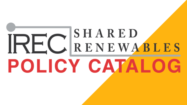 Shared Renewables Policy Catalog