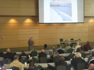 John Wiles at KVCC, HVCC for PV for Code Officials Workshop