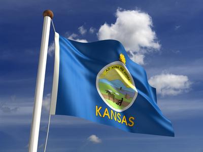 Kansas Flag Kansas flag (with clipping path)