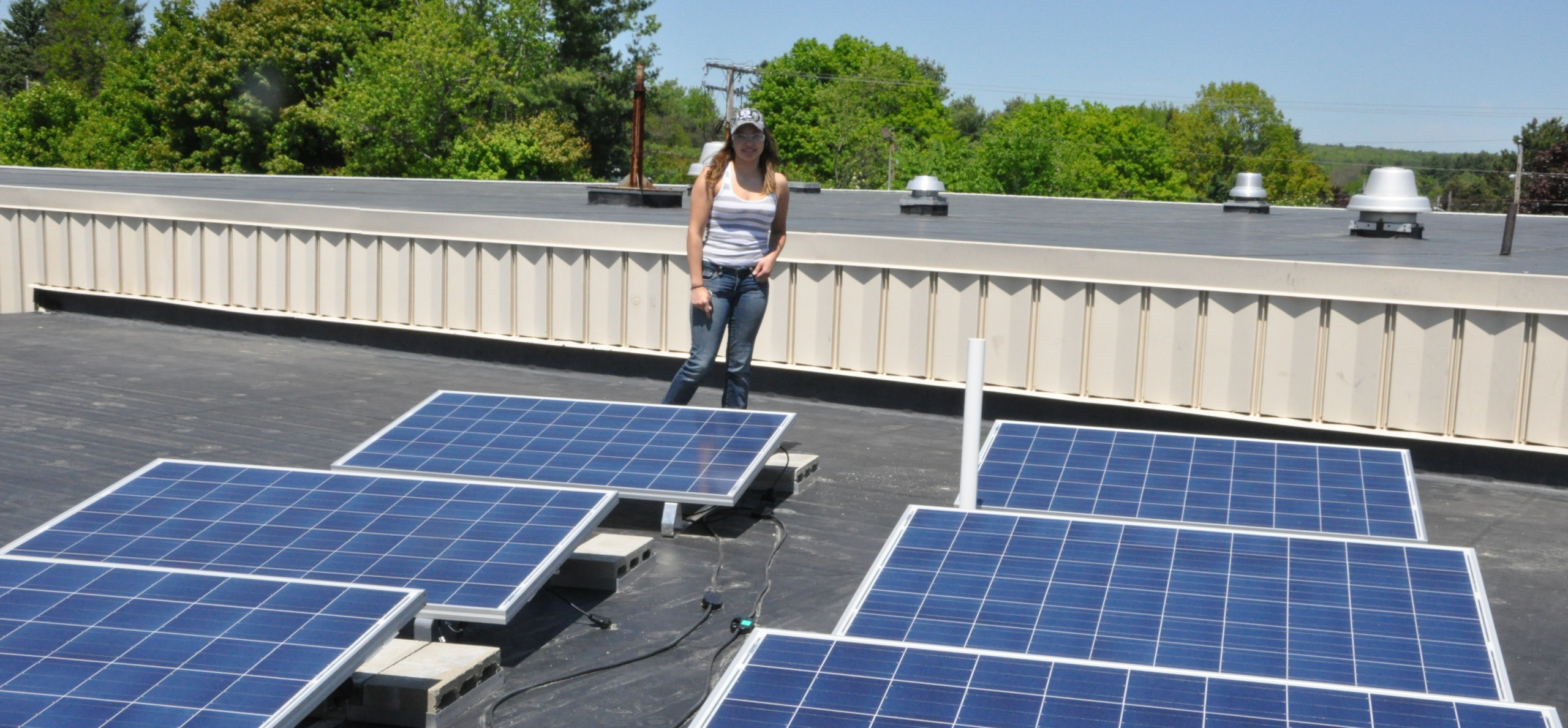 Solar array installed by students at Mid-Maine CC