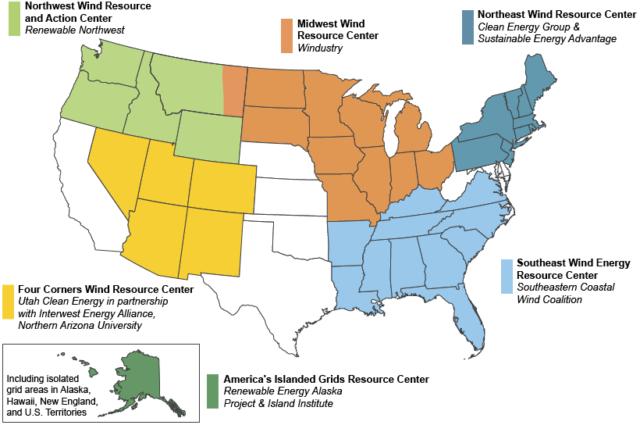 DOE Establishes Wind Regional Resource Centers