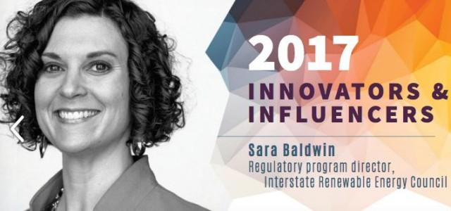 Sara Baldwin Solar Power World 2017 Innovator & Infuencer