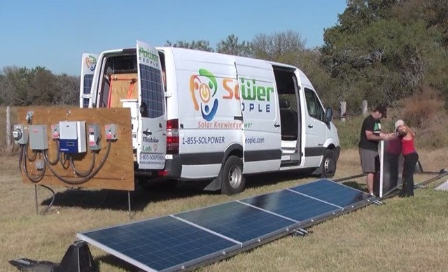Mobile Brick-and-Mortar Solar Lab: PV training anytime. Anywhere.
