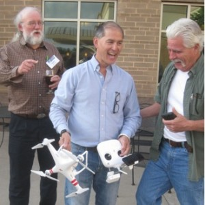 Robert Foster and Roger Dixon coveting Charles Newcomb's site assessment drone