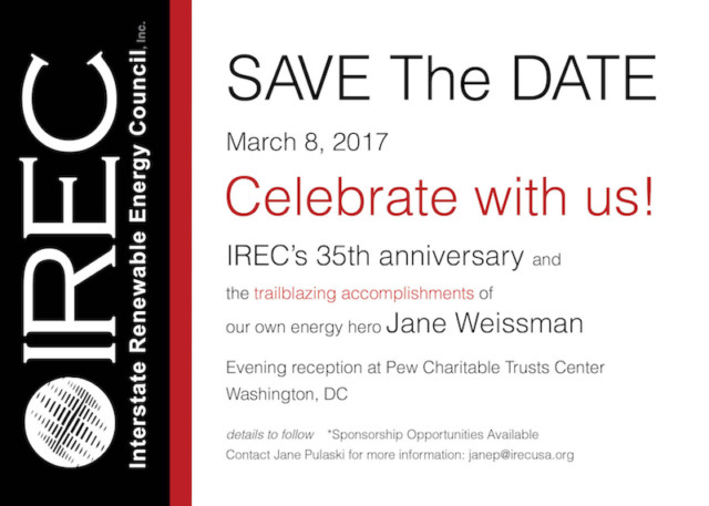 SAVE THE DATE To Celebrate with IREC!