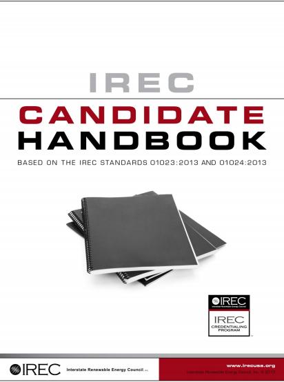 IREC Credentialing Program Releases New Candidate Handbook