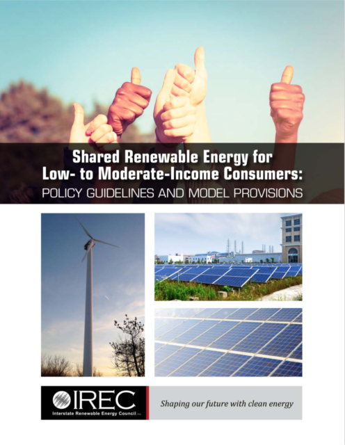 Shared Renewable Energy for Low- to Moderate-Income Consumers: Policy Guidelines and Model Provisions