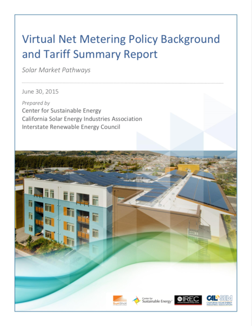 Virtual Net Metering Policy Background and Tariff Summary Report