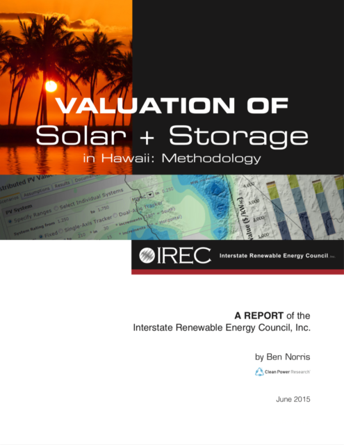 Valuation of Solar+Storage in Hawaii: Methodology