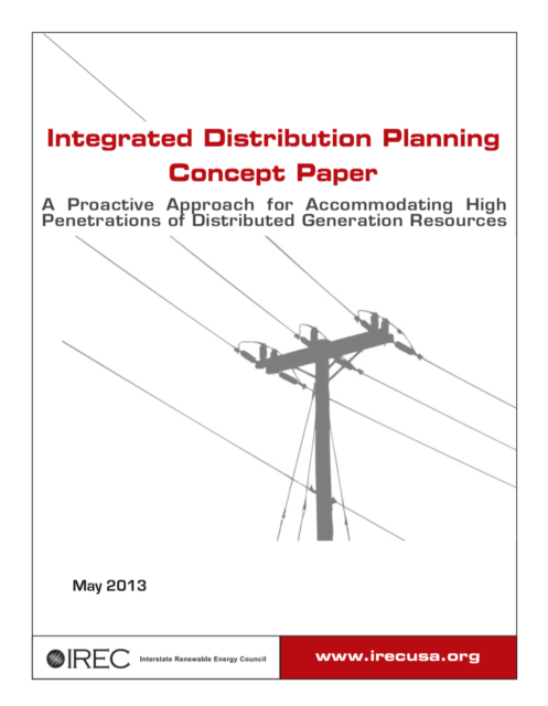 Integrated Distribution Planning Concept Paper