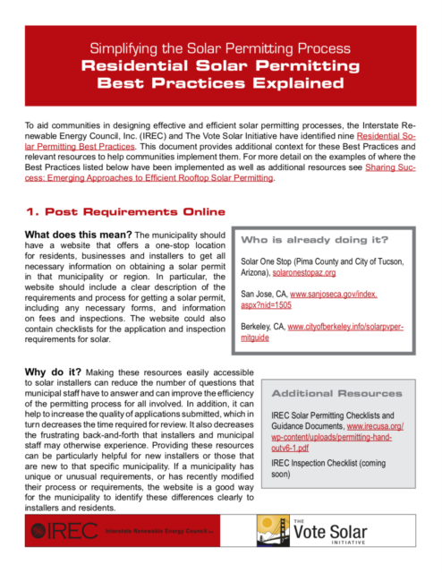 Residential Solar Permitting Best Practices Explained