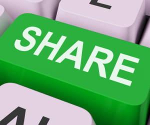 Share Key Shows Sharing Webpage Or Picture Online