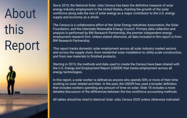 National Solar Jobs Census Data 2020