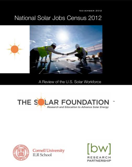 National Solar Jobs Census 2012