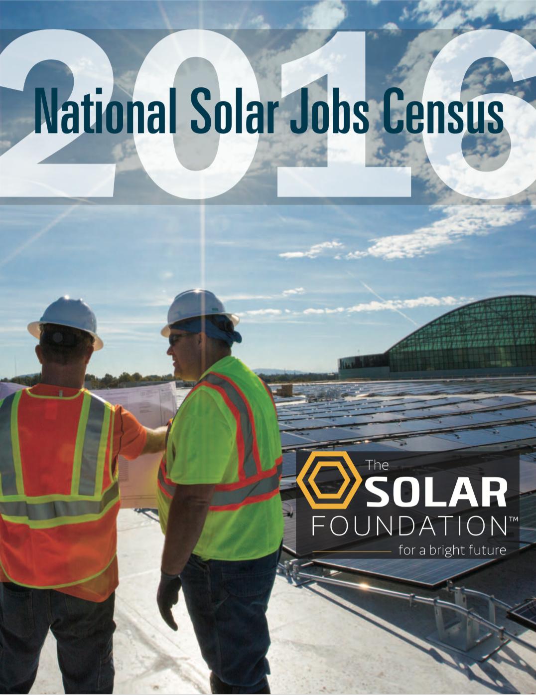 National Solar Jobs Census 2016