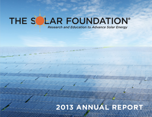 The Solar Foundation Annual Report 2013