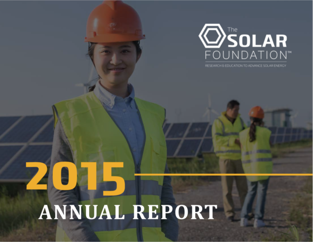 The Solar Foundation Annual Report 2015