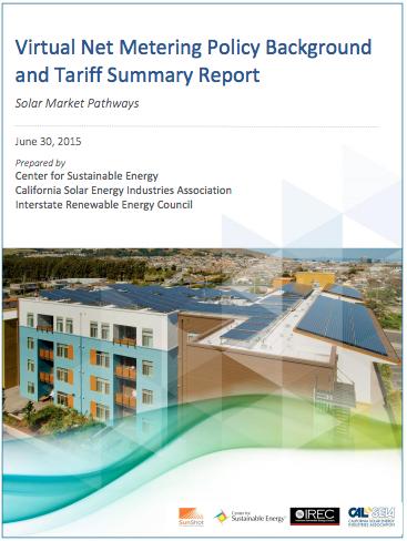 Report Summarizes CA Virtual Net Metering Policies & Tariffs