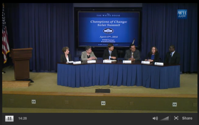 IREC's Jane Weissman Moderates Solar Champs of Change Panel at White House