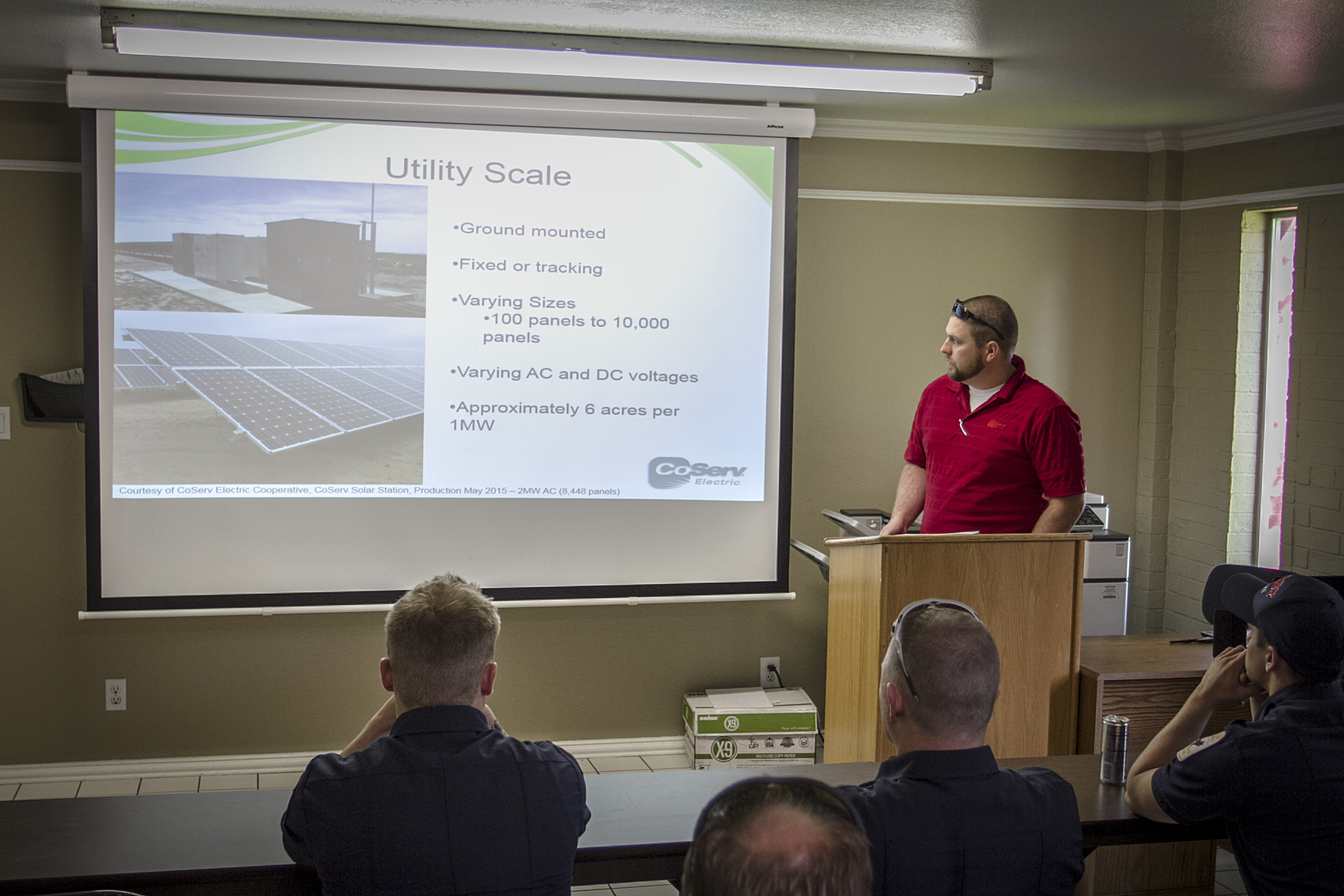 Solar PV training for firefighters
