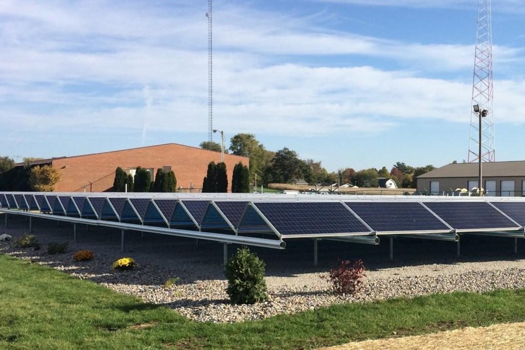 Tipmont Electric Cooperative community solar project. Image: Tipmont RMC