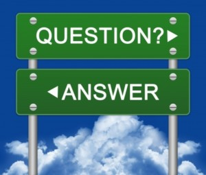 question answer sign