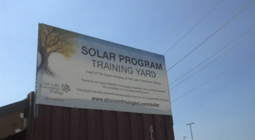 Salt Lake Community College solar program training yard