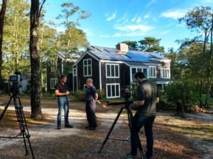 Filming Joe Sarubbi and Jim Rogers on Martha's Vineyard for rooftop solar