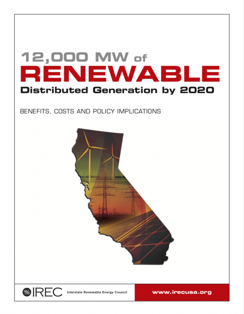 12,000 MW of Renewable Distributed Generation by 2020