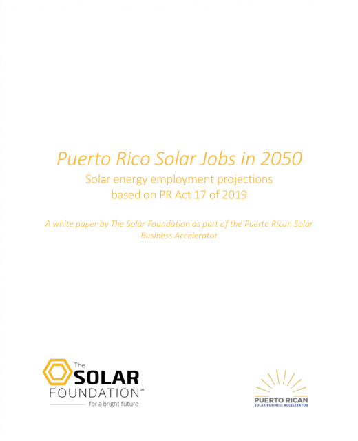 Puerto Rico Solar Jobs in 2050