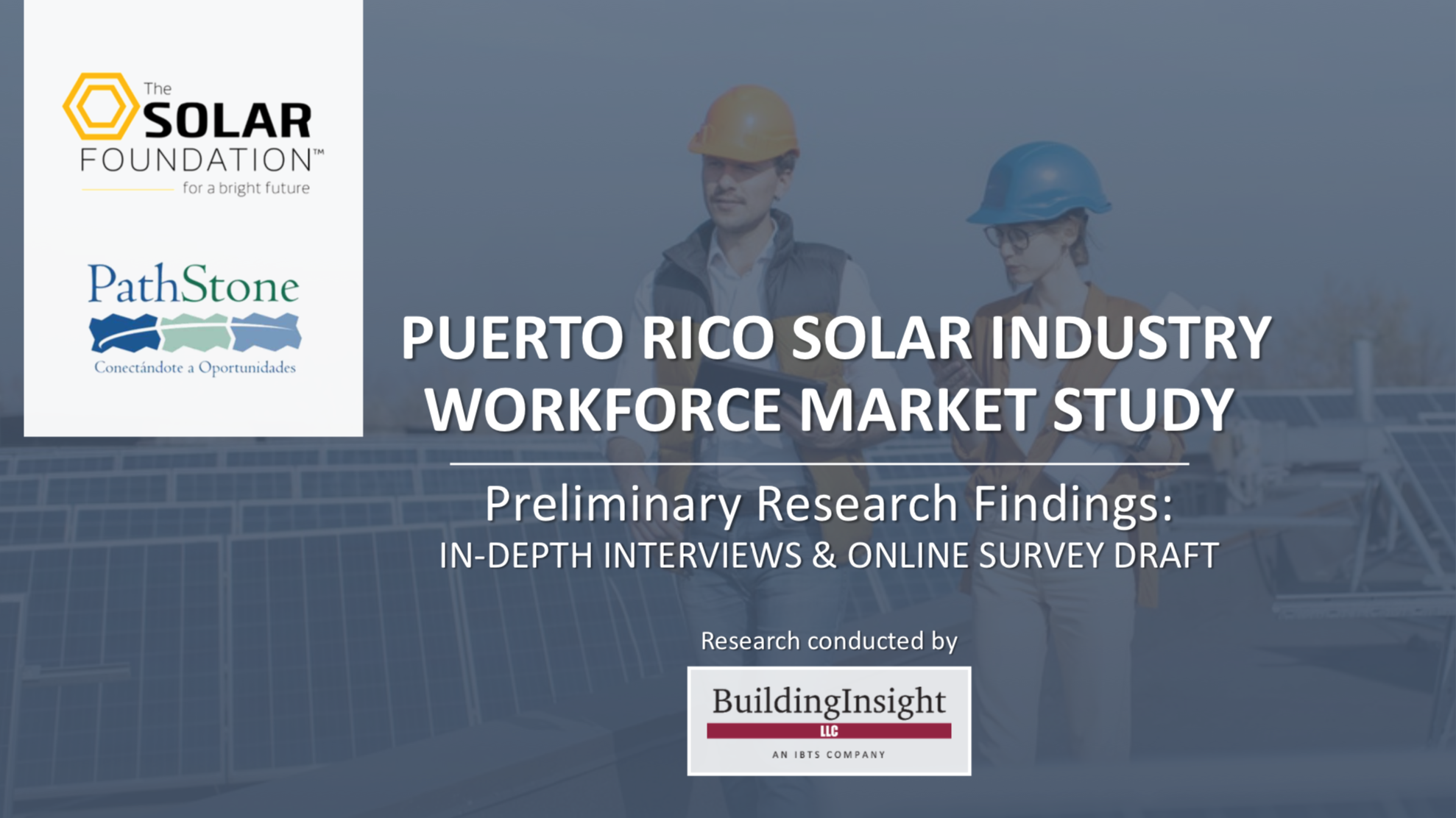 Puerto Rico Solar Industry Workforce Market Study