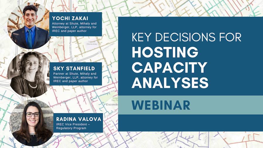 Key Decisions for Hosting Capacity Analyses Webinar